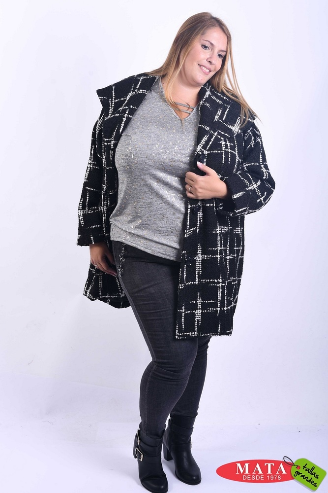 Abrigo mujer tallas grandes 21814