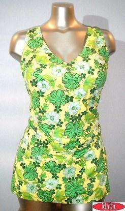 Bañador-falda mujer amarillo 08900