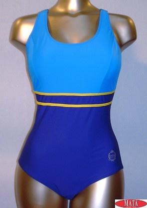 Bañador mujer azul tallas grandes 12330