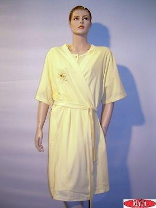 Bata mujer tallas grandes amarillo 06097