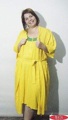 Bata mujer amarillo 17388
