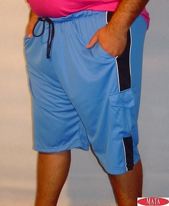 Bermuda hombre azul tallas grandes 06209