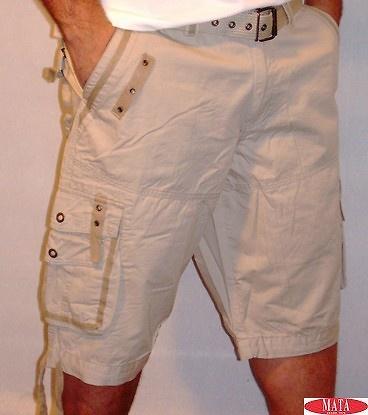 Bermuda tallas especiales hombre beig 12805