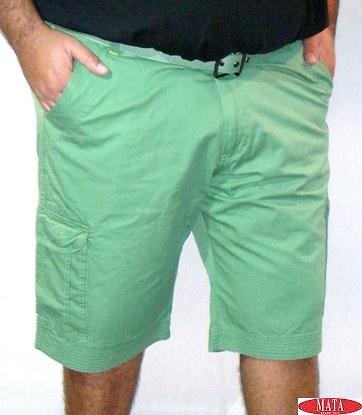 Bermuda hombre verde 17083