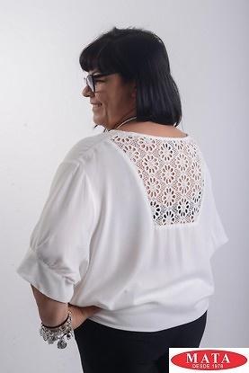 Blusa mujer tallas grandes beig 19619