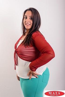 Bolero mujer burdeos tallas grandes 16163