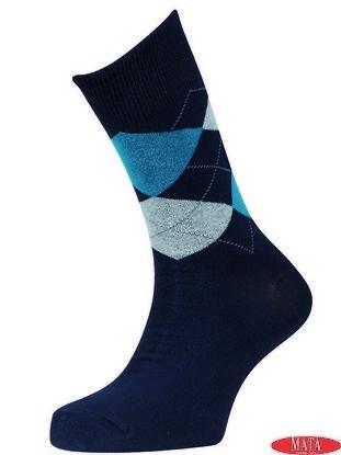 Calcetín azul marino 16122