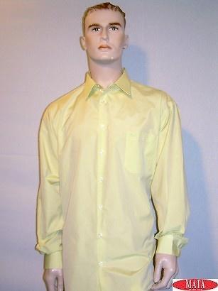 Camisa tallas grandes hombre amarillo 09653