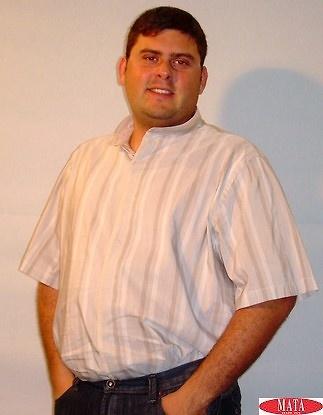 Camisa tallas grandes beig 12894