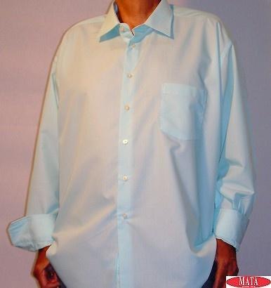 Camisa hombre celeste tallas grandes 04743