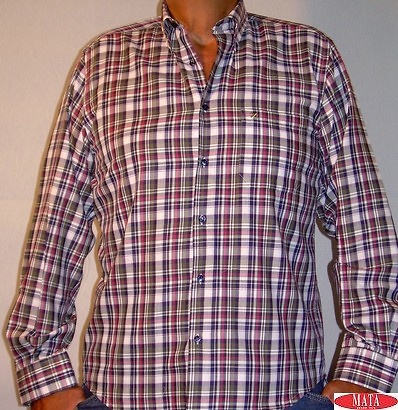 Camisa hombre cuadros tallas grandes 11210