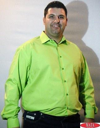 Camisa hombre verde 03737