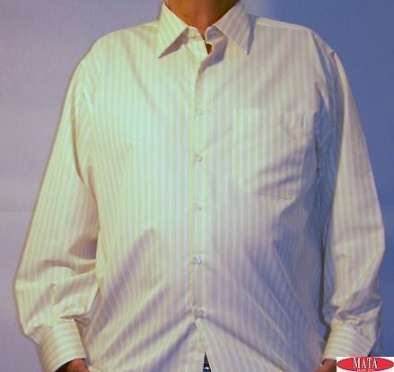 Camisa tallas grandes amarillo 04569