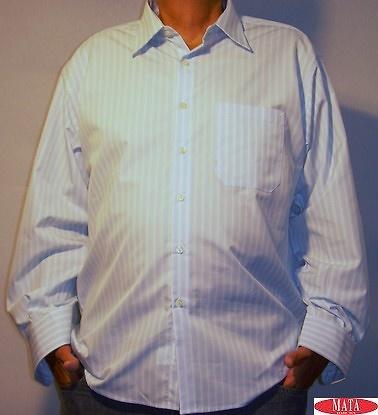 Camisa celeste hombre tallas grandes 04569