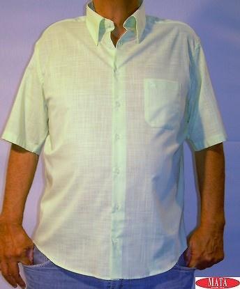 Camisa hombre verde tallas grandes 07298