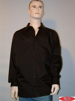 Camisa tallas grandes hombre negro 08972