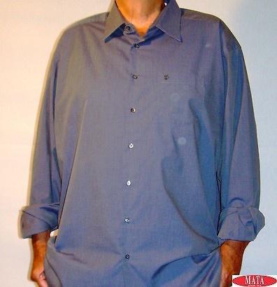 Camisa hombre GRIS tallas grandes 09238
