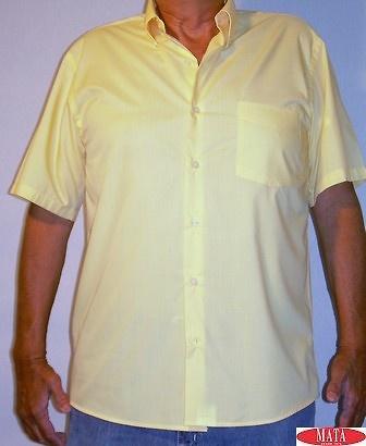 Camisa AMARILLO hombre tallas grandes 10658