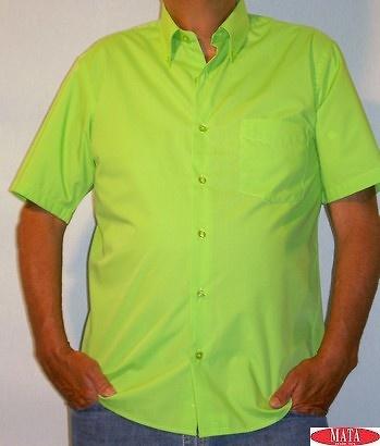 Camisa VERDE hombre tallas grandes 10658