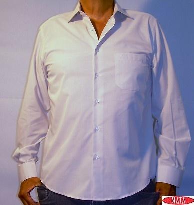 Camisa hombre beig tallas grandes 11215