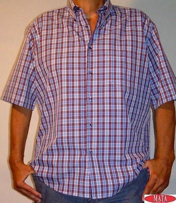 Camisa hombre azul tallas grandes 11217