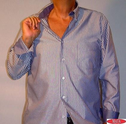 Camisa hombre azul marino tallas grandes 11459