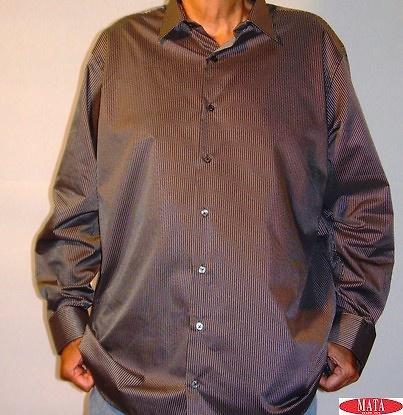 Camisa hombre negro tallas grandes 11462