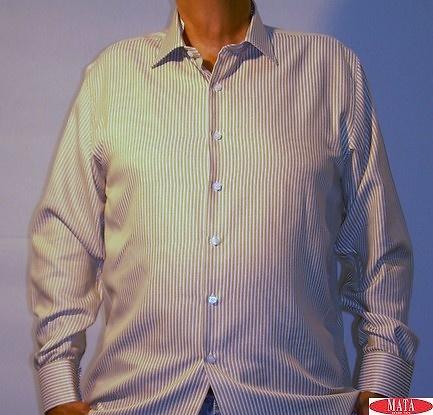 Camisa hombre mostaza tallas grandes 11463