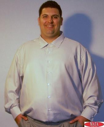 Camisa hombre beig tallas grandes 11463