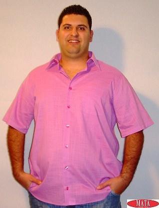 Camisa tallas grandes hombre fuxia 12614