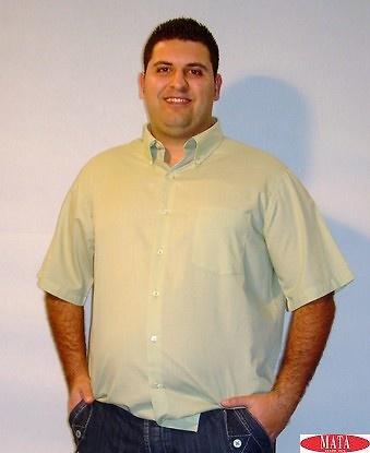 Camisa tallas grandes hombre verde 12614