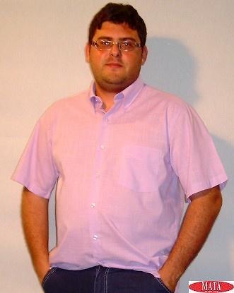 Camisa tallas grandes hombre lila 12614