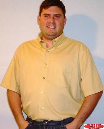 Camisa beig tostado tallas especiales 12614