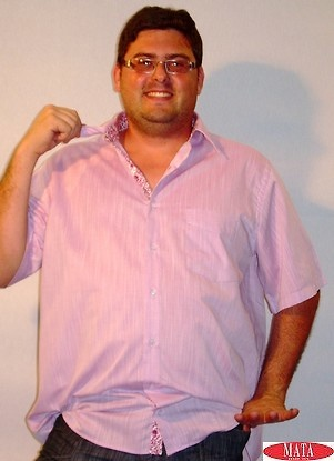 Camisa rosa tallas grandes hombre 12618