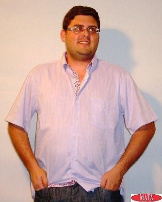 Camisa hombre tallas grandes lila 12618