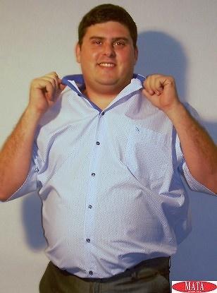 Camisa hombre azul tallas grandes 13908