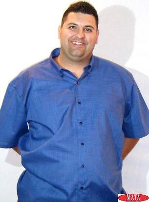 Camisa hombre azul marino 15410