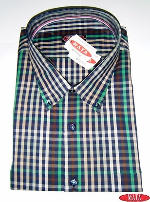 Camisa hombre beig tallas grandes 15675