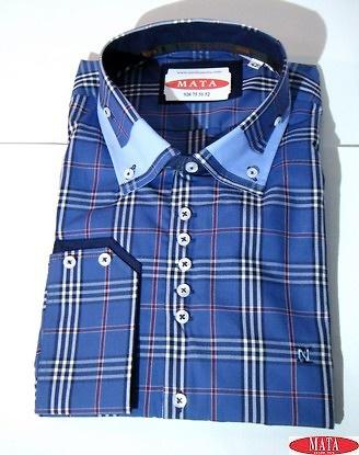 Camisa hombre azul 16543
