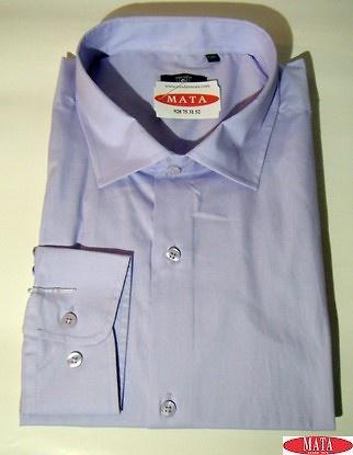 Camisa hombre malva 17065