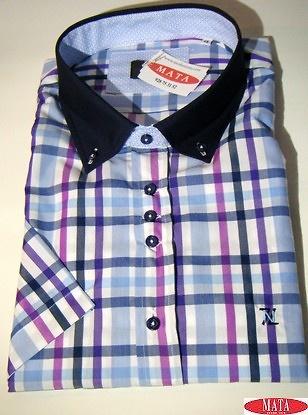 Camisa hombre malva 17078