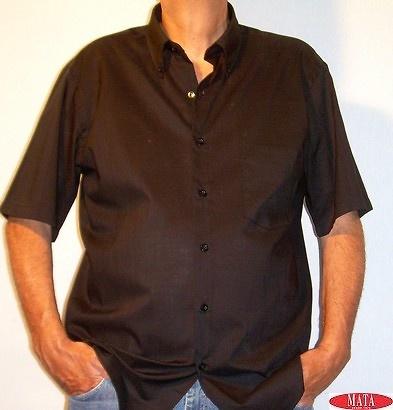 Camisa hombre tallas grandes negro 10660