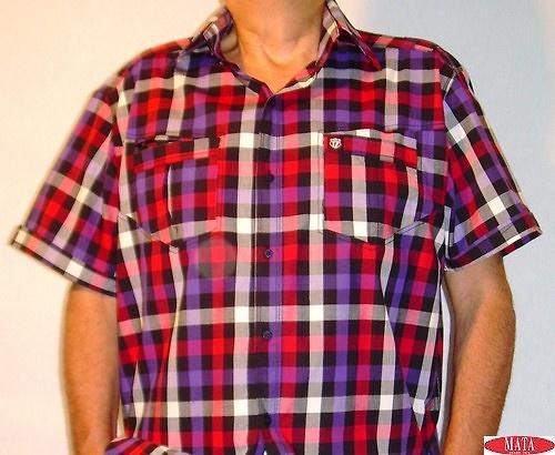 Camisa hombre cuadros tallas grandes 10790