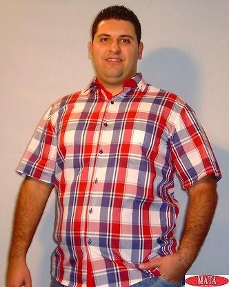 Camisa tallas grandes hombre rojo 12611