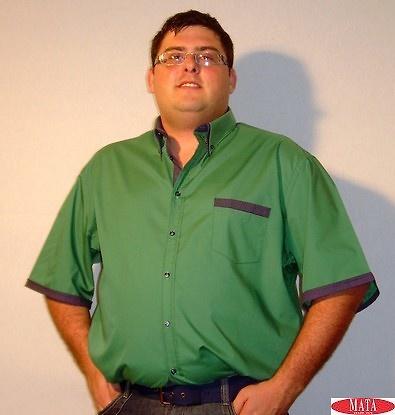 Camisa hombre verde 14067