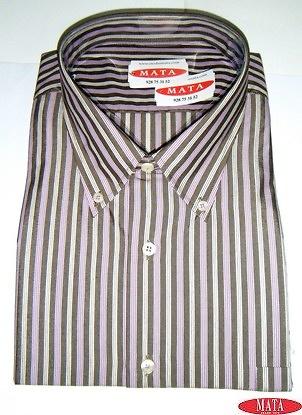 Camisa hombre marrón 15652