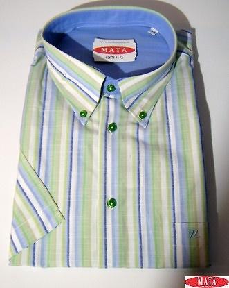 Camisa hombre verde 16736