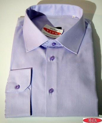 Camisa hombre malva 16739
