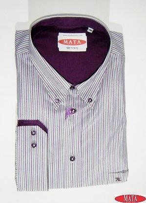 Camisa hombre malva 17450