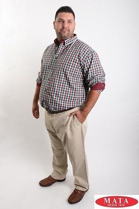 Camisa hombre tallas grandes 19048